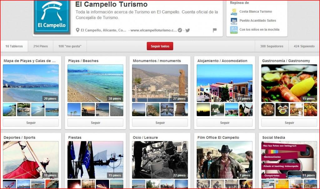 Página oficial de El Campello en Pinterest